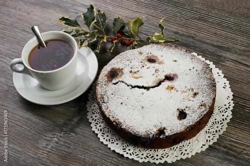 Zdjęcie XXL Ciasto świąteczne i ozdoby świąteczne