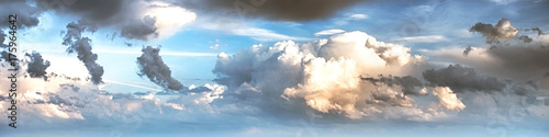 Aluminium Prints Heaven Sky clouds art sunrise background
