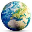 Leinwandbild Motiv Planet Earth - Europe 3d rendering