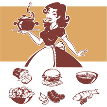 Homemade Cooking, Vector Illus...
