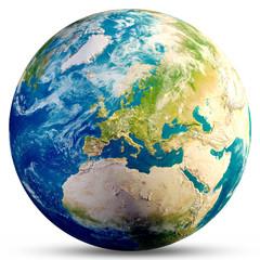 Planeta Ziemia - Europa 3d rendering