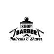 Barbershop vector mustache and razor vector icon
