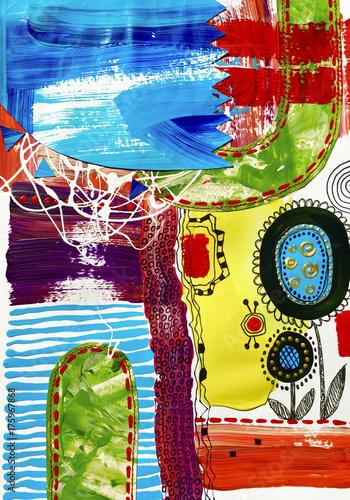 malarstwo-abstrakcyjne-sztuki-wspolczesnej-akryl-na-papierze