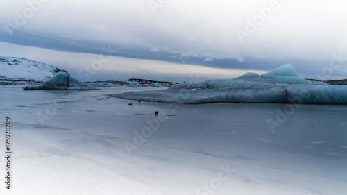 Plakat Gletscherlagune na wyspie