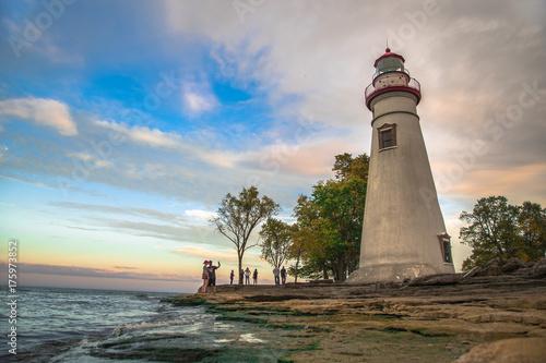 Autocollant pour porte Phare Marblehead Ohio Lighthouse