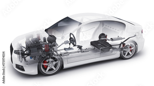 Photo  transparent car and interior parts