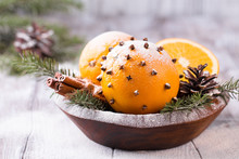 Aromatic Christmas Orange With...