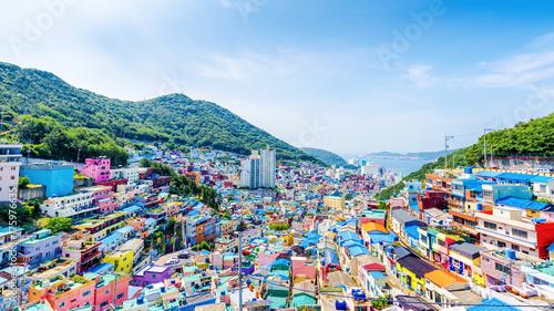 Pinturas sobre lienzo  Gamcheon Culture Village,Busan(Pusan), South Korea