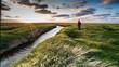 canvas print picture - Blick in die Ferne im Norden