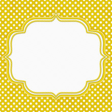 Yellow And White Polka Dot Border With Copy Space