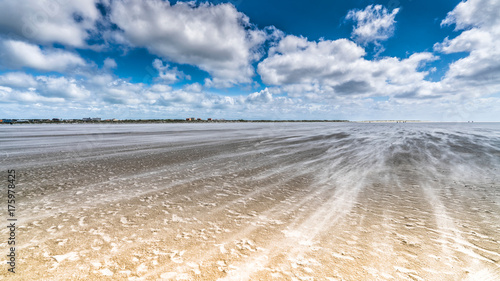 Keuken foto achterwand Noordzee Spuren am Strand