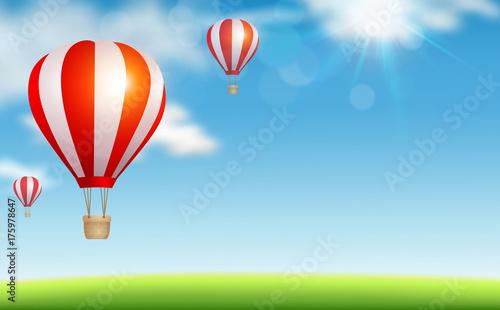 Zdjęcie XXL Lotniczy balony w niebie