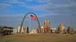Oct. 7, 2017 - St. Louis, Missouri -The Gateway Arch across the Mississippi River.