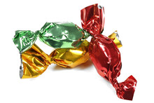 Wrapped Candies Isolated On Wh...