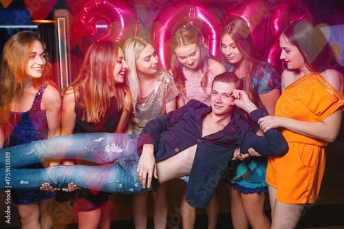 Fotografie, Obraz  Macho at New Year party