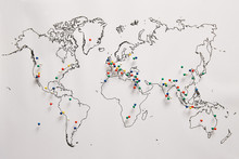 Pins In A Map For World Wonders