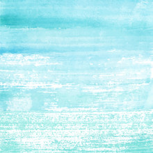 Hand Painted Watercolor Blue Texture. Grunge Background For Your