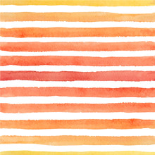 Vector Hand Painted Seamless Watercolor Pattern With Bright Strokes On The White Background