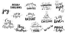 Set Of Christmas Lettering Han...
