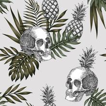 Skull Pineapple Light Background