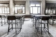 Abandoned School Classroom