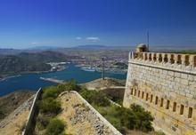 View On Cartagena From Castillo De San Julian (in Murcia, Spain)