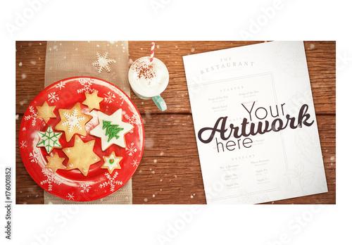 christmas menu on table mockup 2 buy this stock template and