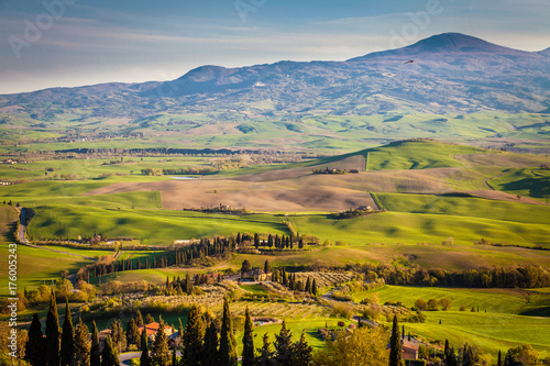 Hills and fields of Valdorcia