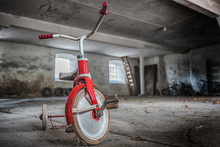 Picture Of Three Wheel Bicycle In The Abandoned Place
