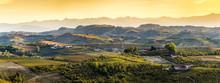 Wide Panorama Of Langhe Region...