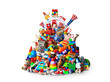 canvas print picture - Huge pile of different and colored toys
