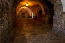 Interior Of The King David's Tomb In Jerusalem, Israel