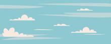 Beautiful Blue Sky With Cute C...