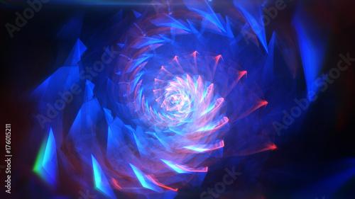 Obraz na płótnie Niebieski streszczenie tło hipnotyczne. Skręcanie spirali 3d ilustracja