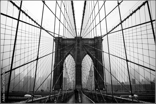 Spoed Fotobehang Bruggen Brooklyn bridge
