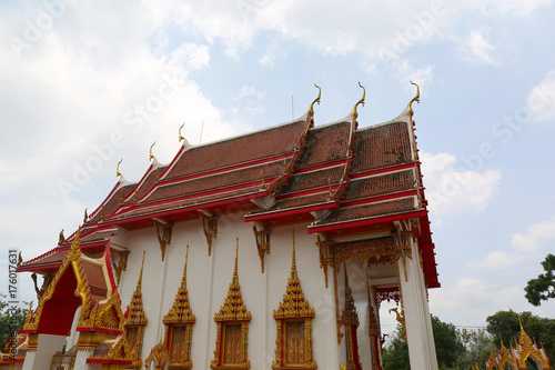 Keuken foto achterwand Temple Beautiful Architecture details at Chalong Temple in Phuket,Thailand
