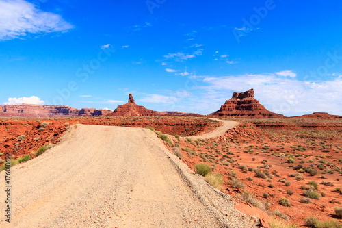 Deurstickers Oranje eclat Valley of the Gods, Utah