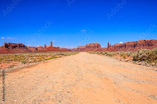 Deurstickers Oranje eclat The Valley of the Gods, Utah