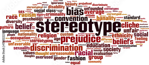 Photo Stereotype word cloud