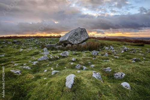 Obraz na plátne Arthurs Stone is located on the highest point of the Gower Peninsular in Wales