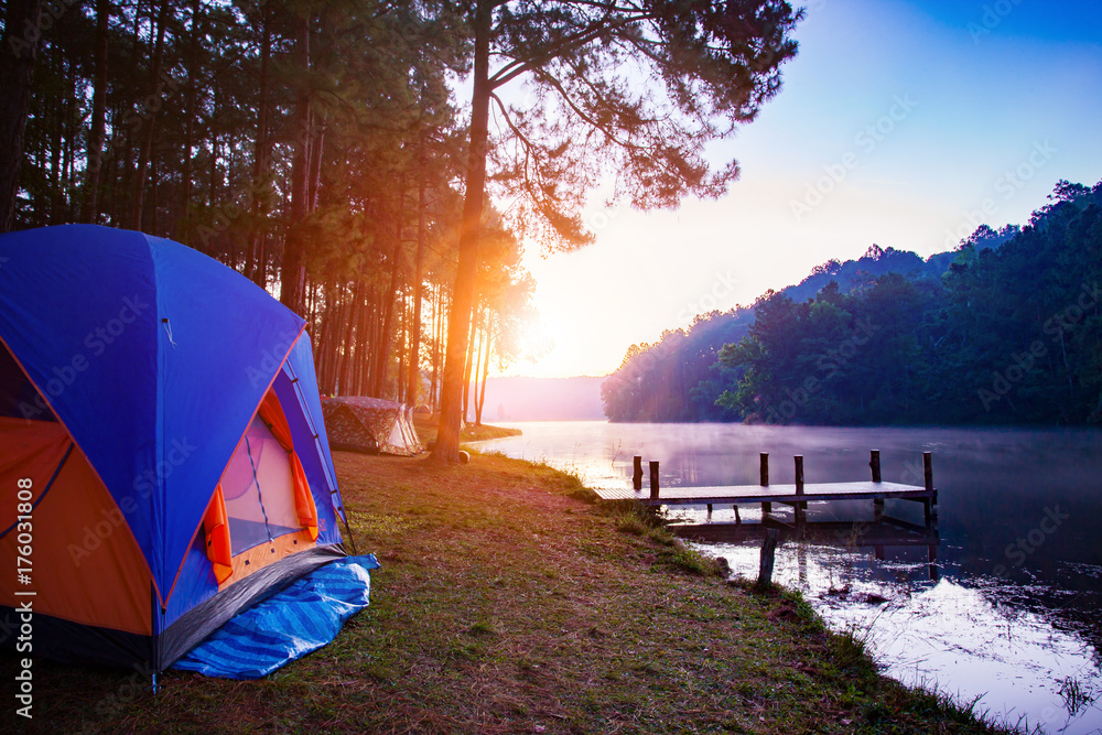 camping tent in pang ung maehong sorn most popular winter traveling ...
