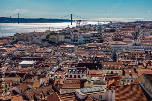 Obraz na dibondzie (fotoboard) Lizbona Cityscape