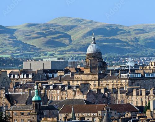 Obraz na dibondzie (fotoboard) Edinburgh skyline z kopułą Old College, University of Edinburgh