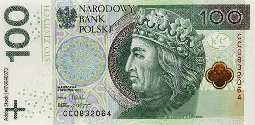 Pinturas sobre lienzo  Polish banknotes, money
