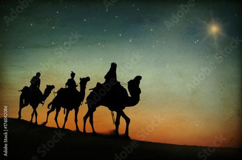 Fotografia The three kings following the star.