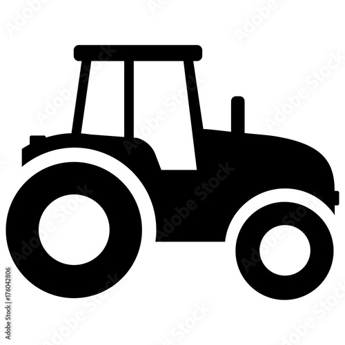 tractor icon on white background Wall mural