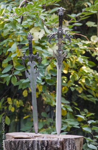 Deurstickers Vechtsport ancient European swords