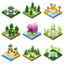 Public Park Landscapes Isometr...