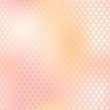 Rose Gold Mermaid Seamless Pattern. Romantic Fish Scale Vector Pattern.