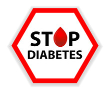 Sign Stop Diabetes With A Drop...